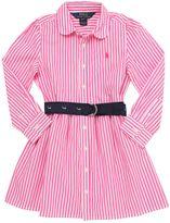 Ralph Lauren Striped Cotton Poplin Shirt Dress