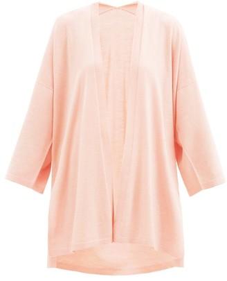 Wolford Aurora Longline Wide-sleeve Wool Cardigan - Light Pink