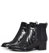 Rag & Bone Walker II Boot in Black Croco