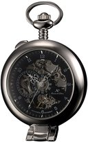 K&S KS KSP063 Men's Half Hunter Hand Wind Mechanical Pocket Watch