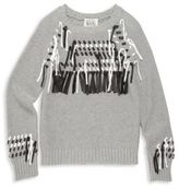 Autumn Cashmere Girl's Cotton Fringe Sweater