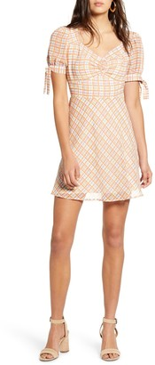 Moon River Dress With Puff Sleeve And Ruf