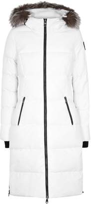 Pajar Jayde White Fur-trimmed Shell Coat