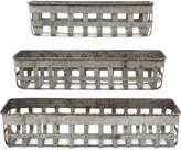 Open-Weave Iron Baskets, Set of 3