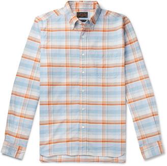 Beams Button-Down Collar Checked Cotton Oxford Shirt