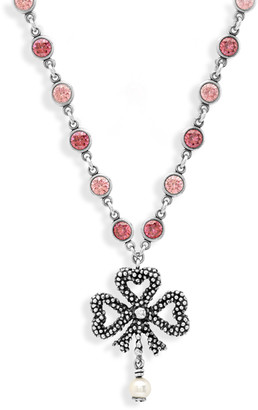 Gucci Pink and Silver Bow Necklace