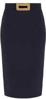 Goat Celia Navy Pencil Skirt