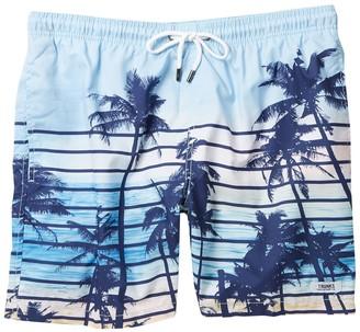 Trunks Surf And Swim Co. Palm Tree Stripe Swim Shorts