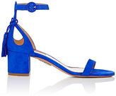 Aquazzura Women's Pixie Ankle-Strap Sandals-BLUE