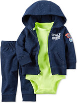Carter's 3-Pc. Space Hunk Hoodie, Bodysuit and Pants Set, Baby Boys (0-24 months)