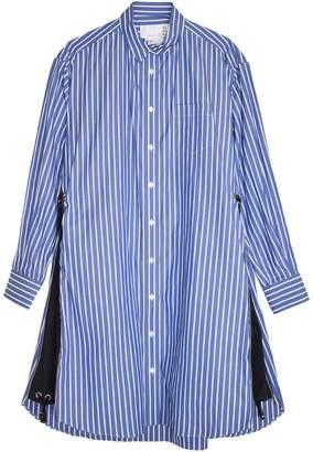 Sacai Cotton Poplin Dress in Stripe/Navy