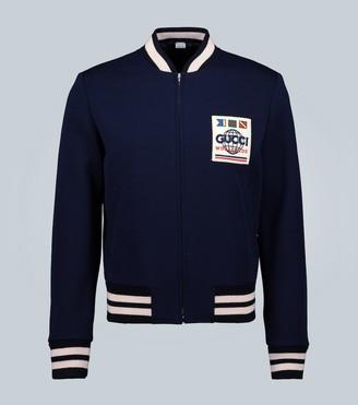 Gucci Jersey wool bomber jacket
