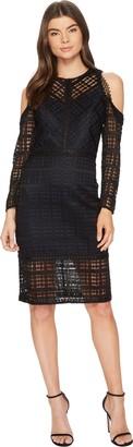 Adelyn Rae Women's Maeve Woven Cold Shoulder Sheath Dress