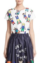 Mira Mikati Women's 'Little People' Print Scuba Top