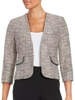 Nipon Boutique Tweed Open-Front Blazer