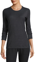 James Perse Textured Cationic Long Sleeve Tee