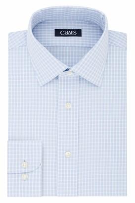 Chaps Men's Dress Shirt Slim Fit Comfort Stretch Check