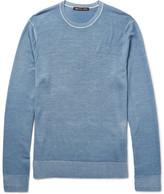 Michael Kors Slim-Fit Washed Merino Wool Sweater