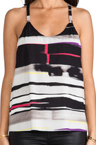 Alice + Olivia Waterfall Drape Back Tank