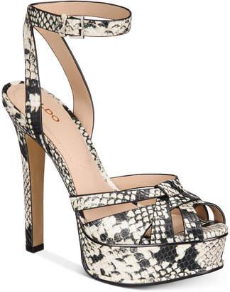 Aldo Lacla Platform Dress Sandals Women Shoes