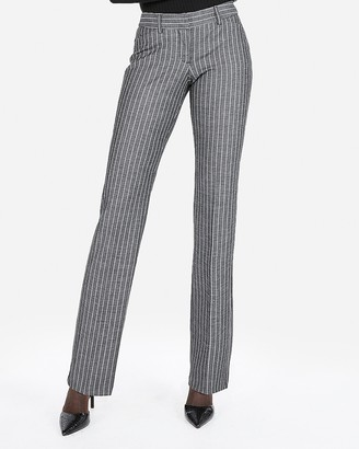 Express Low Rise Barely Boot Ticking Stripe Editor Pant