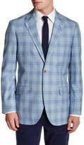 Tailorbyrd Silk & Wool Blend Plaid Sportcoat