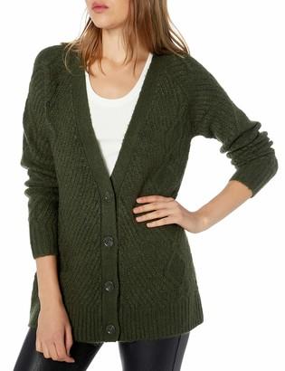 Kensie Women's Fuzzy Knit Cardigan