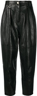 IRO Menden straight-leg leather trousers