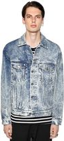 MSGM Acid Wash Effect Cotton Denim Jacket