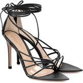 Gianvito Rossi PVC-trimmed leather sandals