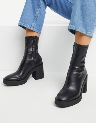 Pimkie chunky heeled boots in black