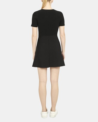 Theory Flare Dress in Ottoman Knit