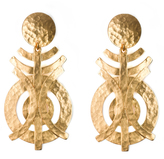 Josie Natori Gold Geo Earrings