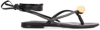 Jil Sander Ball-Detail Ankle-Tie Sandals
