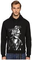 DSQUARED2 Dean Fit Brushed Cotton Fleece Hoodie Men's Sweatshirt