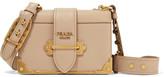 Prada Cahier Leather Shoulder Bag - Beige