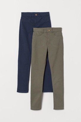 H&M 2-pack Twill Pants - Green