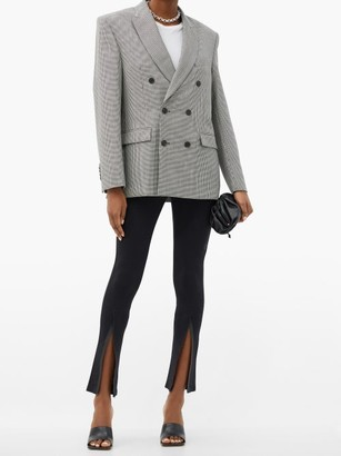 Wardrobe NYC Houndstooth-check Merino-wool Twill Blazer - Black White
