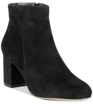 INC International Concepts Inc Floriann Block-Heel Ankle Booties, Created for Macy's Women's Shoes