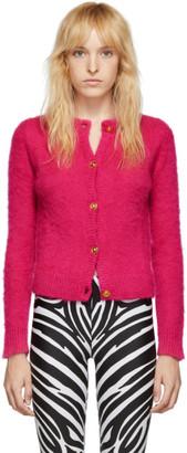 Versace Pink Mohair Cardigan