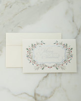 Carlson Craft 25 Christmas Floral Cards with Plain Envelopes Added to Initial Purchase of 100