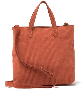 Madewell Leather Ziptop Transport Crossbody Bag