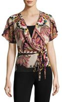 Etro Silk Paisley Wrap Top