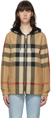 Burberry Reversible Beige Check Stretton Jacket