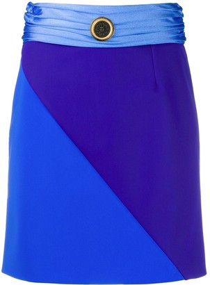 Fausto Puglisi colour block mini skirt