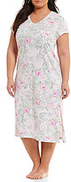 Miss Elaine Plus Floral & Paisley Cottonessa Nightgown