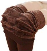 GRyiyi Women Winter Super Warm Stretchy Under Leggings Pants