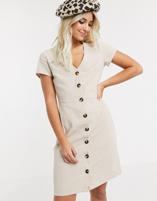 Glamorous a- line mini dress in stone