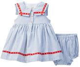 Laura Ashley Sailor Stripe Dress & Bloomer 2-Piece Set (Baby Girls 0-9M)
