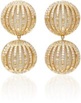Susan Foster 18K Gold Diamond and Enamel Earrings